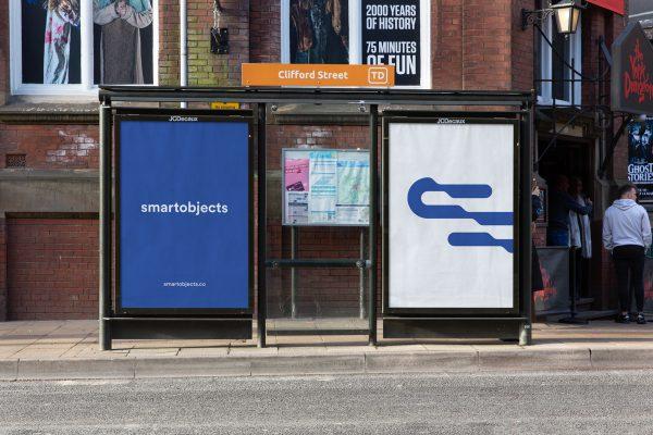 bus stop posters mockup