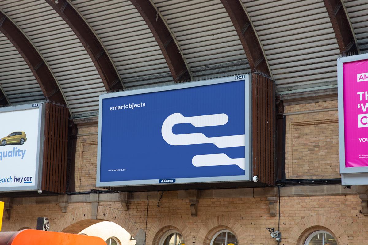 train station billboard mockup