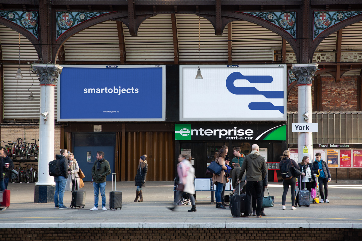 railway billboards mockup