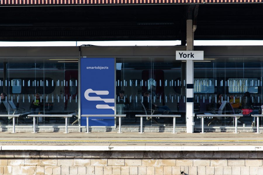 train station poster mockup