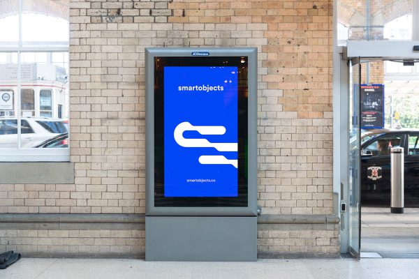 train station lightbox mockup