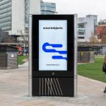 free digital signage mockup