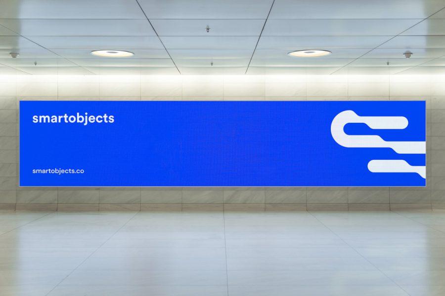 Smart Objects Digital Billboard 01 Blue 2