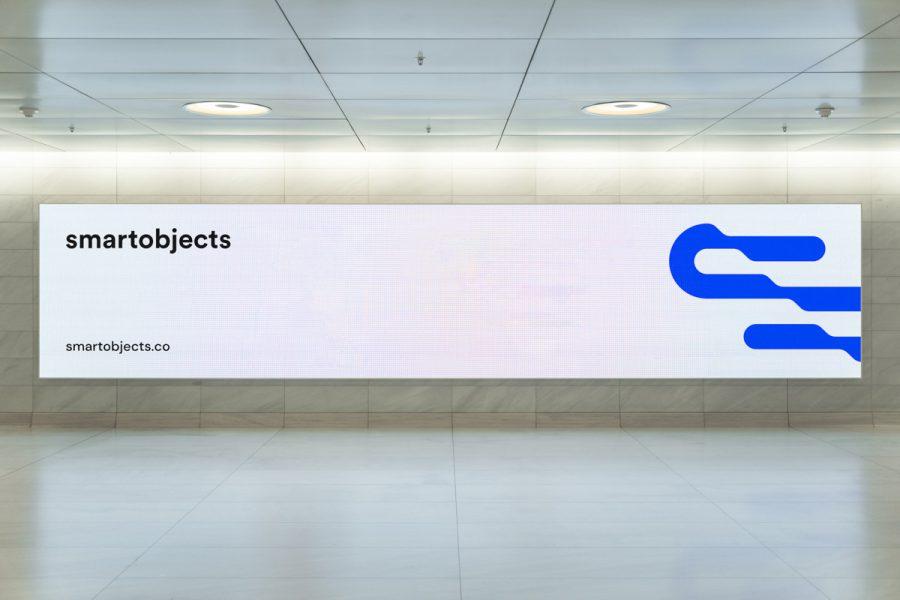 Smart Objects Digital Billboard 01 White 3
