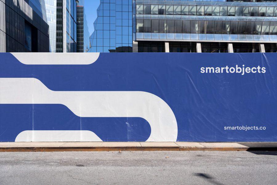 Smart Objects Hoarding 03 Blue