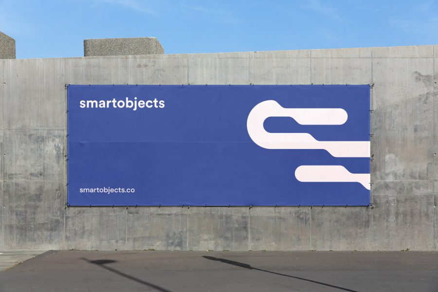 Smart Objects Vinyl Banner 02 Blue 2