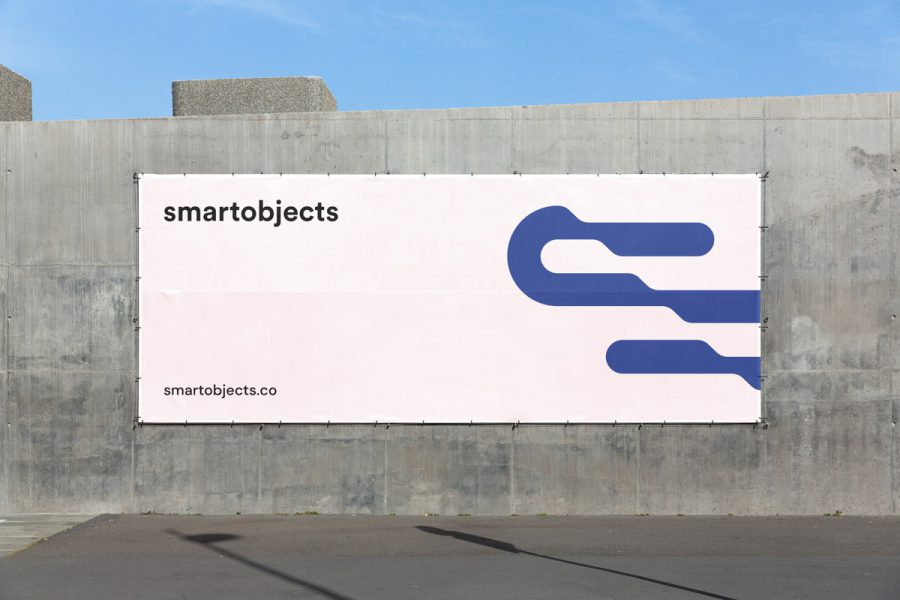 Smart Objects Vinyl Banner 02 White 3