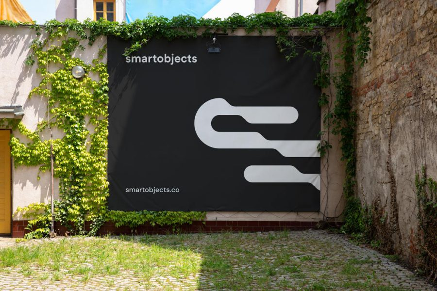 Smart Objects Vinyl Banner 03 Black