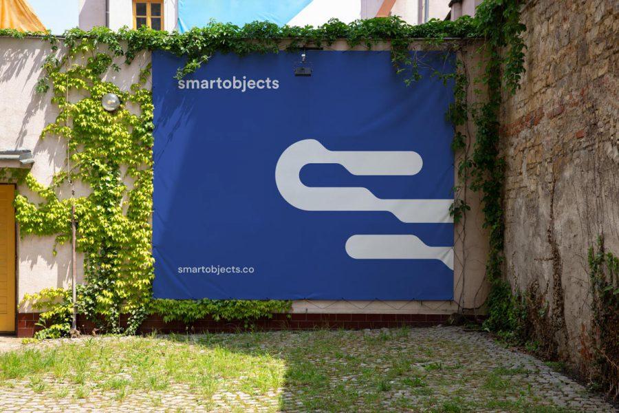 Smart Objects Vinyl Banner 03 Blue
