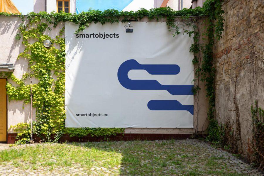 Smart Objects Vinyl Banner 03 White